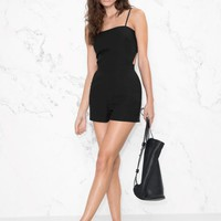 & Other Stories   Knot Romper   Black
