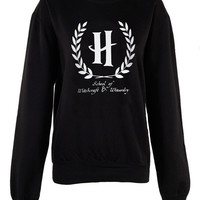 Harry Potter Hogwarts Logo School of Witchcraft and Wizardry shirt womens ladies  print  sweatshirt