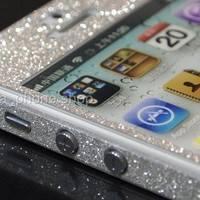 Luxury Glitter Screen Protector Front + Back Body Sticker for iPhone 5 / 5S