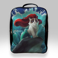 Backpack for Student - Grumpy Cat Little Mermaid Bags