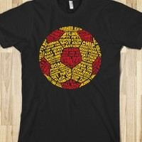 Red & Yellow Soccer Ball Typography