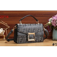 Fendi tide brand female double F embossed embossed shoulder bag Messenger bag #1