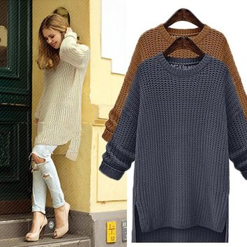 Women's Fall and Winter Fall Fashion Long Sleeve Knit Pullover Sweater [9150488263]