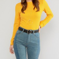 New Look 70's Round Buckle Belt at asos.com