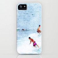 Surfing Time iPhone & iPod Case by Anna Andretta