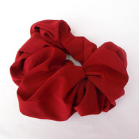 Brick Red Autumn Hair Scrunchie