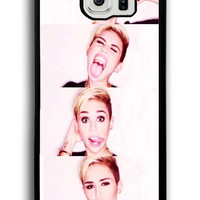 Funny Miley Cyrus Face for Samsung Galaxy S6 Hard Cover Plastic