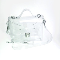 Crossbody bag Clear See Through Plastic PVC Vinyl Transparent Bag,Crossbody Bag,Messenger Bag,Shoulder Bag TSA NFL Security Purse Bag
