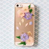 Dried and Pressed Real Flower Phone Case