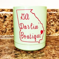 Powder coated and personalized Yeti lowball rambler 10 oz cup