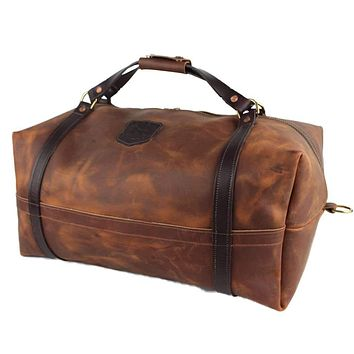 Traditional Leather Duffle By Over Under Clothing