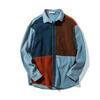 Autumn Design Vintage Patchwork Shirt Lights Jacket [7929509251]