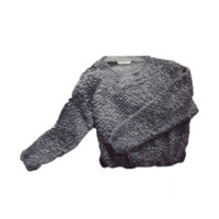 Pulled Wool Knit Sweater