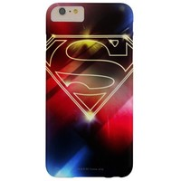 Shiny Yellow Outline Superman Logo Barely There iPhone 6 Plus Case