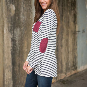 Know Where You Stand Tunic, Black-White