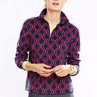 Women's ThermaCheck 100 Fleece Half-zip Pullover - Pattern from Lands' End
