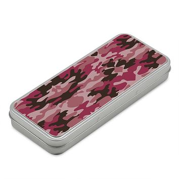 Pink Camouflage Pencil Case Box by The Photo Access