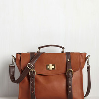 Play in the Ivy Leagues Bag in Chestnut | Mod Retro Vintage Bags | ModCloth.com