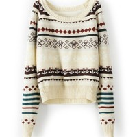 BlueBand — Beige Loose Tribe Sweater