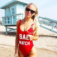 Women BAE WATCH Swimsuit Beachwear Swimwear Bikini