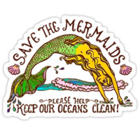 Save The Mermaids Pretty Logo Tee/Sticker