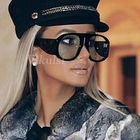New Classic Aviator Oversized Sunglasses Women Vintage Brand Designer Sun Glasses For Women Big Shades Oculos Female 2018 Retro