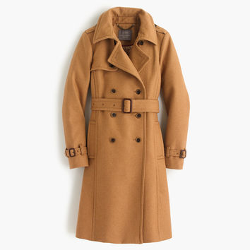Icon trench coat in wool-cashmere