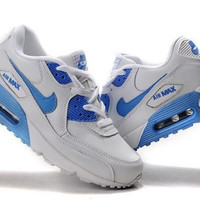 Light Blue Womens Nike Air Max 90 Running Shoes