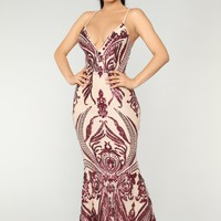 Queen Of Love Dress - Wine