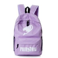Fairy Tail Canvas Bag Travel Backpack Cosplay Backpack Schoolbag [8081693319]