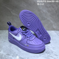 DCCK N891 Nike Air Force 1 AF1 Low TM Leather Skate Shoes Purple
