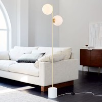 Sphere + Stem Floor Lamp