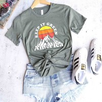 distracted - keep it green america unisex graphic tee - more colors