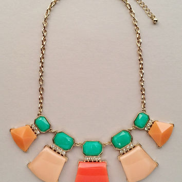 Peach Sangria Necklace