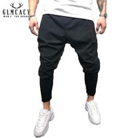 Men's Hip Hop Jogger Pants Harem Casual Baggy Sweatpants Trousers Workout Long Pant