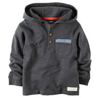 Hooded Jersey Pullover