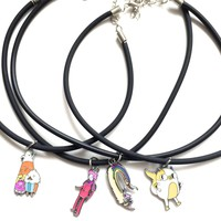 NEW CHARACTERS Adventure Time Chokers LEATHER OR TATTOO