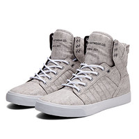 SUPRA SKYTOP | LIGHT GREY / BLACK - WHITE | Official SUPRA Footwear Site