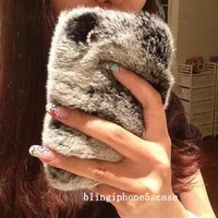 Luxury iphone 5s case, furry iphone 5c case, 3D iphone 5 case, rabbit fur iphone 4s case, fur iphone case, fur samsung note case,