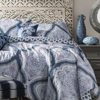 Moroccan Damask Navy 3PC Reversible Comforter Set