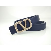 Valentino diamond simple joker letter buckle belt