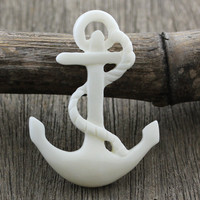 Anchor, Carved Bone