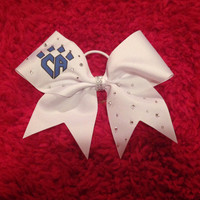 White Cheer Athletics Bow