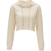 Chic O Neck Sweatshirt Women Cropped Hoody Short Featuring Tops Hooded Tracksuits Sweatshirt Solid Color Pull Femme