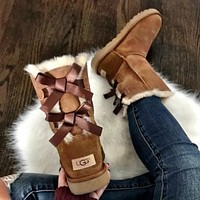 UGG Fashion leisure bow boots