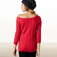 AE Cool Cable Sweater | American Eagle Outfitters