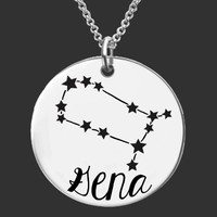 Zodiac Constellation Personalized Necklace