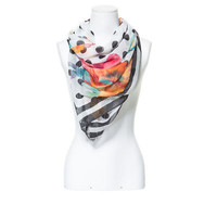 POLKA DOT AND FLORAL COMBINATION PRINT SCARF - Scarves - Accessories - Woman - ZARA United States