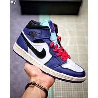 Air Jordan 1 Mid street fashion men and women high-top sneakers #7