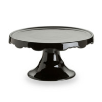 Rococo Noir Medium Black Pedestal Cake Stand in Gift Box 27534